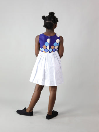 SALEM AFRICAN PRINT KIDS DRESS