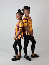 Load image into Gallery viewer, TILI AFRICAN PRINT KIDS SHIRT