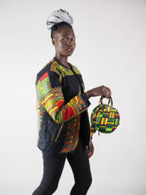 Load image into Gallery viewer, HAYEN HANDMADE AFRICAN PRINT CIRCLE BAG