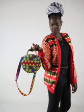 Load image into Gallery viewer, PAIX HANDMADE AFRICAN PRINT CIRCLE BAG