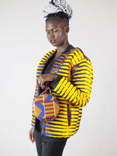 Load image into Gallery viewer, SERVIN HANDMADE AFRICAN PRINT CIRCLE BAG
