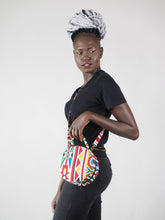 Load image into Gallery viewer, HANDMADE AFRICAN PRINT NADE CIRCLE BAG