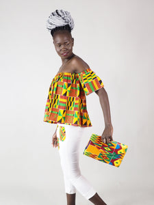 MILA AFRICAN PRINT CLUTCH BAG