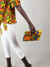 Load image into Gallery viewer, MILA AFRICAN PRINT CLUTCH BAG