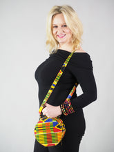 Load image into Gallery viewer, LIEDE HANDMADE AFRICAN PRINT CIRCLE BAG