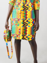 Load image into Gallery viewer, MILA HANDMADE AFRICAN PRINT CIRCLE BAG