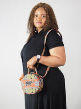 Load image into Gallery viewer, HANDMADE AFRICAN PRINT JEON CIRCLE BAG