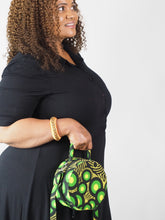 Load image into Gallery viewer, HANDMADE AFRICAN PRINT PAIX CIRCLE BAG