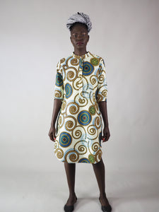 AFRICAN PRINT LADIES' AMELI SHIRT DRESS