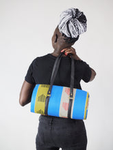 Load image into Gallery viewer, MOMPI HANDMADE AFRICAN PRINT DRUM BAG