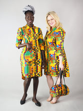 Load image into Gallery viewer, MILA HANDMADE AFRICAN PRINT DRUM BAG