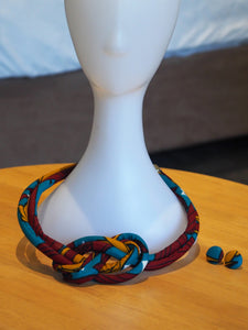 KEYPA HANDMADE AFRICAN PRINT NECKLACE SET