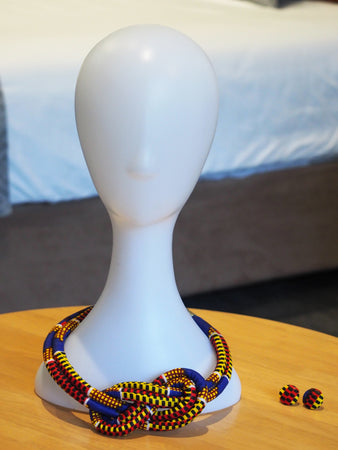 LITTI HANDMADE AFRICAN PRINT NECKLACE SET