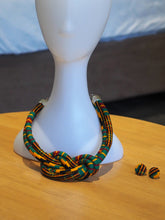 Load image into Gallery viewer, HANDMADE MBOA AFRICAN PRINT NECKLACE SET