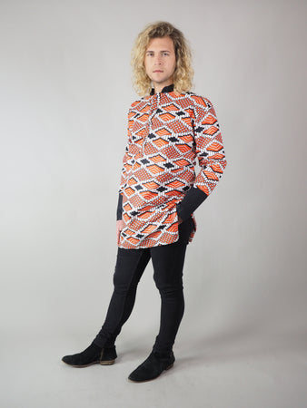 TAPOA AFRICAN PRINT MEN'S LONG SLEEVE SHIRT