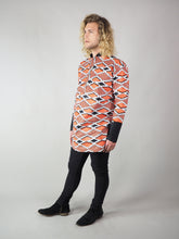 Load image into Gallery viewer, TAPOA AFRICAN PRINT MEN'S LONG SLEEVE SHIRT