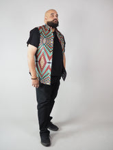 Load image into Gallery viewer, PANUA AFRICAN PRINT MEN'S SLEEVELESS SHIRT