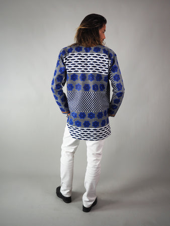 EARA AFRICAN PRINT EMBROIDERED UNISEX SHIRT