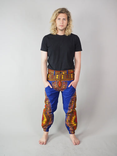 TELMERA AFRICAN PRINT MEN'S TROUSERS