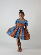 Load image into Gallery viewer, COLLETO AFRICAN PRINT KIDS DRESS
