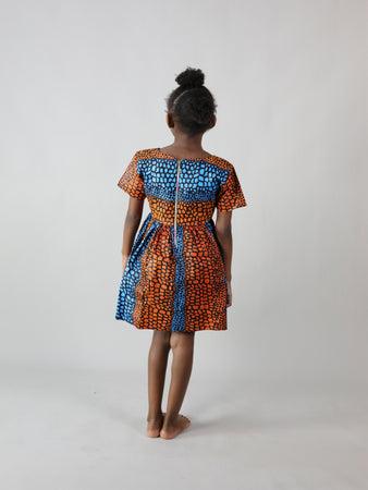 COLLETO AFRICAN PRINT KIDS DRESS