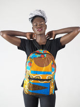 Load image into Gallery viewer, BOWBOW HANDMADE AFRICAN PRINT BACK PACK