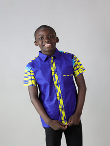 LITTI AFRICAN PRINT BOYS SHIRT