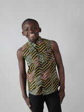 Load image into Gallery viewer, WENI AFRICAN PRINT BOYS SLEEVELESS SUMMER SHIRT