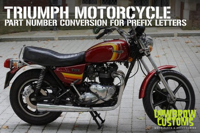 Triumph Motorcycle Part Number Conversion for Prefix Letters