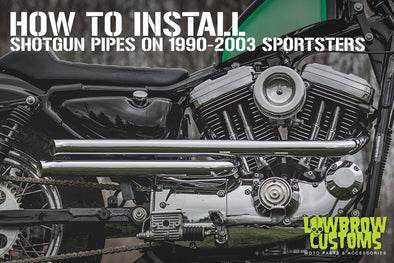 How To Install: Lowbrow Customs Shotgun Pipes 86-03 Harley-Davidson Sportster