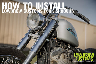 How to install Lowbrow Customs Fork Shrouds on 39mm front end