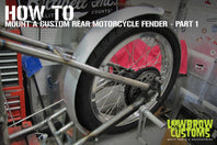 How to Mount a Custom Rear Motorcycle Fender Part 1