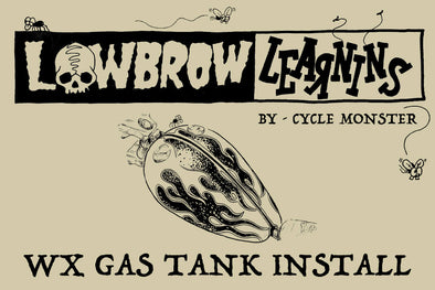 Lowbrow Learnins: How-To DIY Install WX Gas Tanks 1936-1984 Harley-Davidson Big Twin Frames