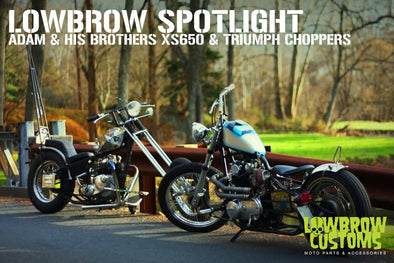 Lowbrow Spotlight: Adam and His Brother's XS650 & Triumph Choppers