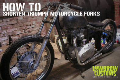 How to Shorten Triumph Motorcycle Forks