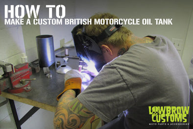 How To make a custom British Motorcycle Oil Tank