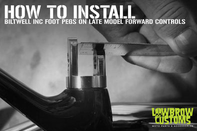 How to Install Biltwell Inc. Foot Pegs on Late Model forward controls