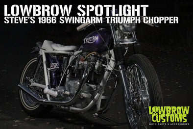Lowbrow Spotlight: Steve's 1966 Swingarm Triumph Chopper