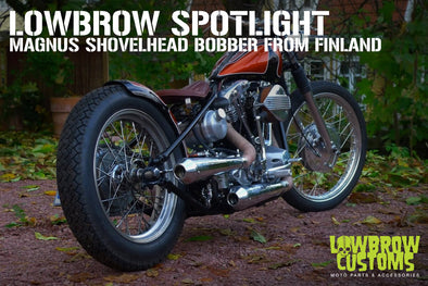 Custom Shovelhead Bobber from Finland