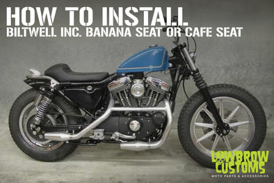 How to install biltwell inc. banana seat or cafe seat