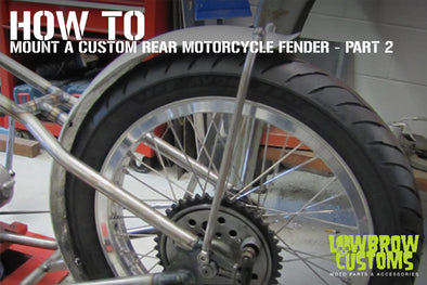 How To Mount a Custom Rear Motorcycle rear Fender - part 2