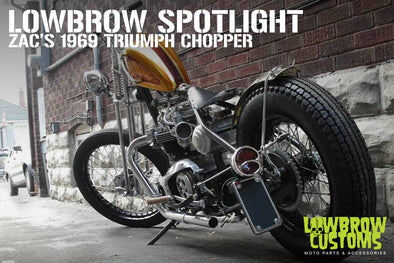 Lowbrow Spotlight: Zac's 1969 Triumph Chopper