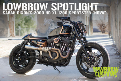 "Lowbrow Spotlight: Sarah Dixon's 2000 Harley-Davidson 1200 XL Sportster ""Nova"" - Lowbrow Customs"