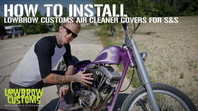 How To Install a Lowbrow Customs Air Cleaner Cover on your S&S Super E Carb