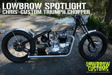 Lowbrow Spotlight: Chris' Custom Triumph Chopper