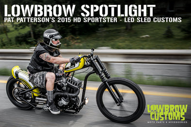 Lowbrow Spotlight: Pat Patterson's 2015 Harley-Davidson Sportster - Led Sled Customs - Lowbrow Customs