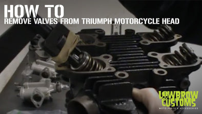 VIDEO: How to Remove Valves From A Triumph Motorcycle Head