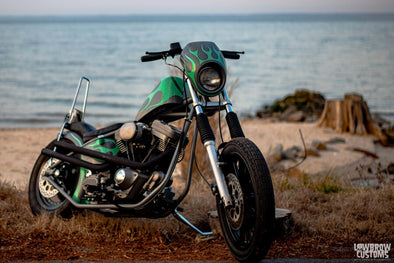 Lowbrow Spotlight: Alex Fields 1998 H-D Evo FLSTF - Lowbrow Customs