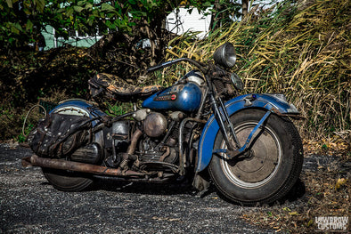 Lowbrow Spotlight: Billy Balcer's 1947 Original Harley-Davidson Knucklehead - Lowbrow Customs
