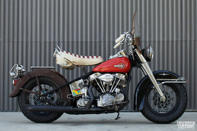 Lowbrow Spotlight: Bill Bryant's 1957 Harley-Davidson FLH Panhead - Lowbrow Customs
